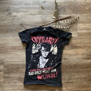 Tops - Super Cool Crybaby Johnny Depp Graphic T